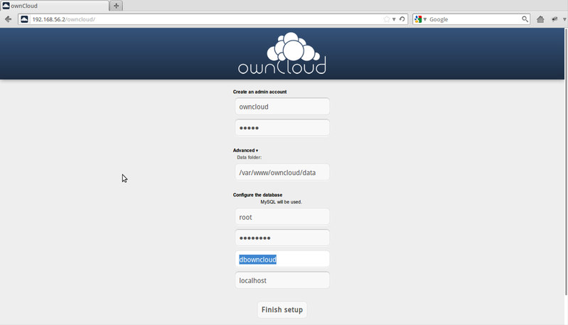 ownCloud - Install
