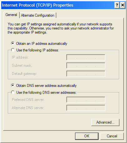 Setup Dhcp Client Windows XP