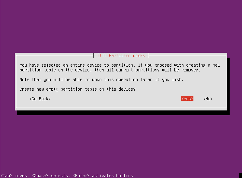 Create new empty partition Ubuntu Server 12.10 64 Ubuntu Server 12.10 Quantal Quetzal Installation Guide