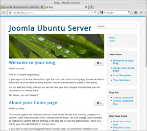 Joomla 3.0 Hompage 300x268 How to Installing CMS Joomla 3.0 on Ubuntu Server 12.04