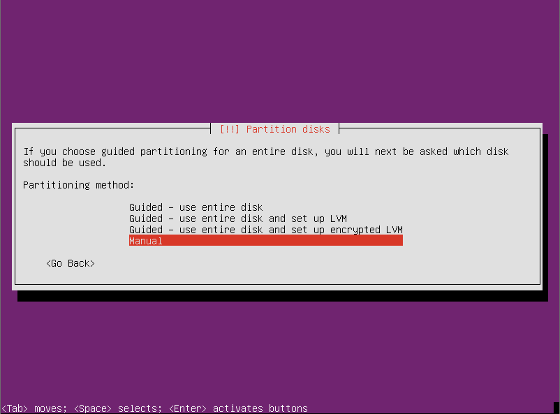 Partition Disk Ubuntu Server 12.10 64  Ubuntu Server 12.10 Quantal Quetzal Installation Guide