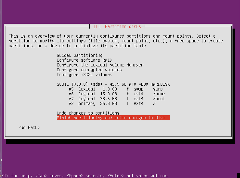 Partition Done Ubuntu Server 12.10 64 Ubuntu Server 12.10 Quantal Quetzal Installation Guide