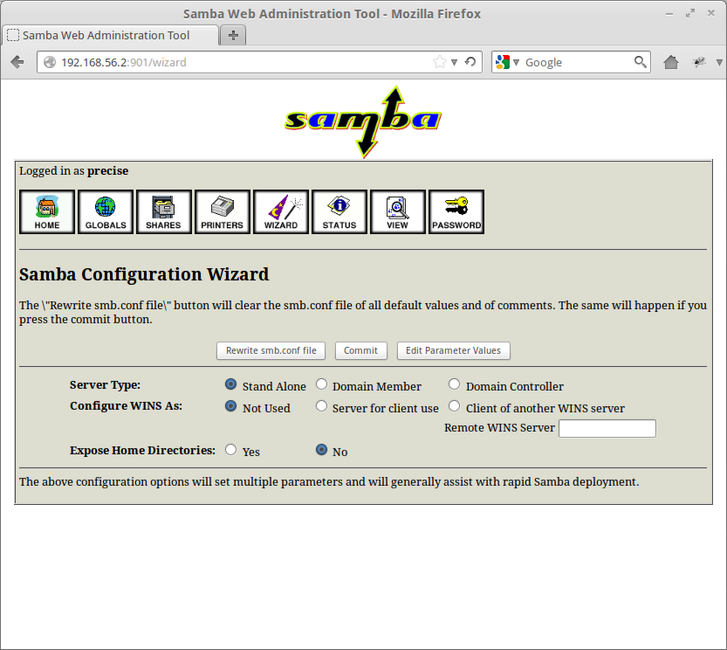 How to Install and Configure SWAT (Samba Web Administration Tool) In