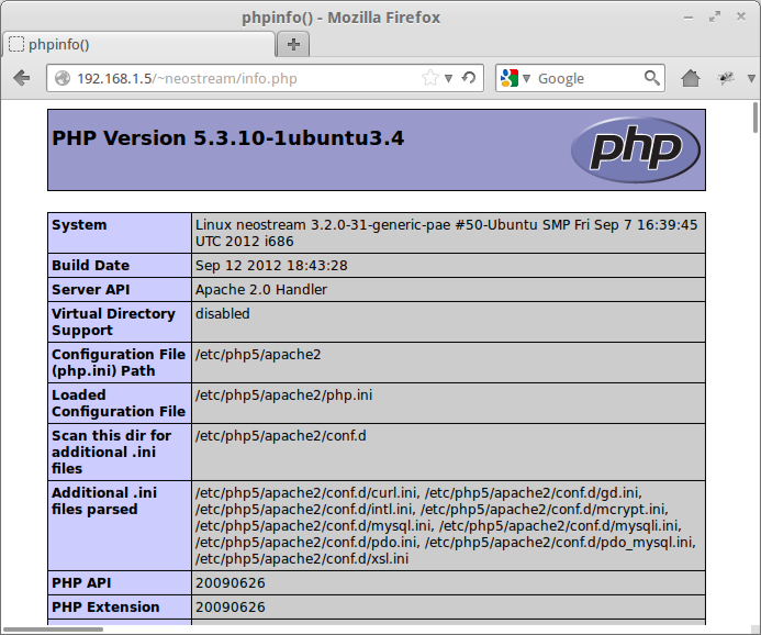 apache2 userdir module testing phpinfo  How to Enable and Configure Apache2 Userdir Module in Ubuntu Server 12.04