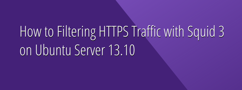 How to Filter HTTPS Traffic with Squid 3 on Ubuntu Server 13.10