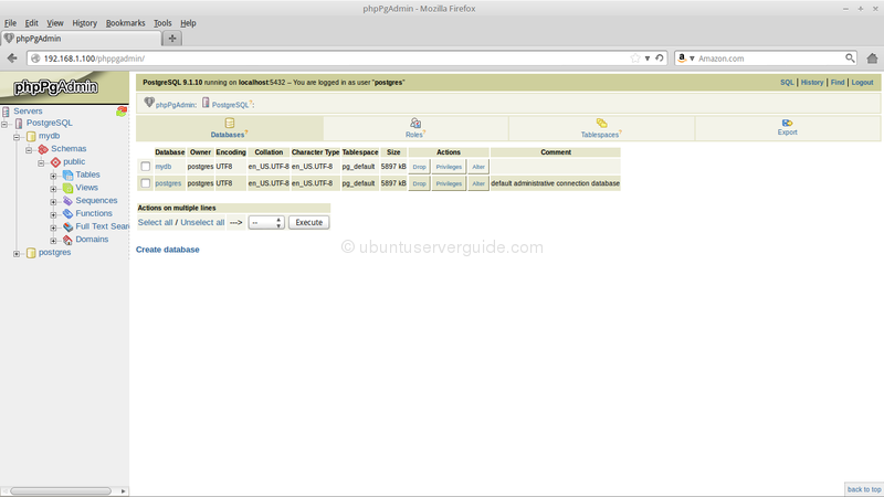 phpPgAdmin Mozilla Firefox 180 How to Setup PostgreSQL Database Server and PhpPgAdmin in Ubuntu Server 13.10