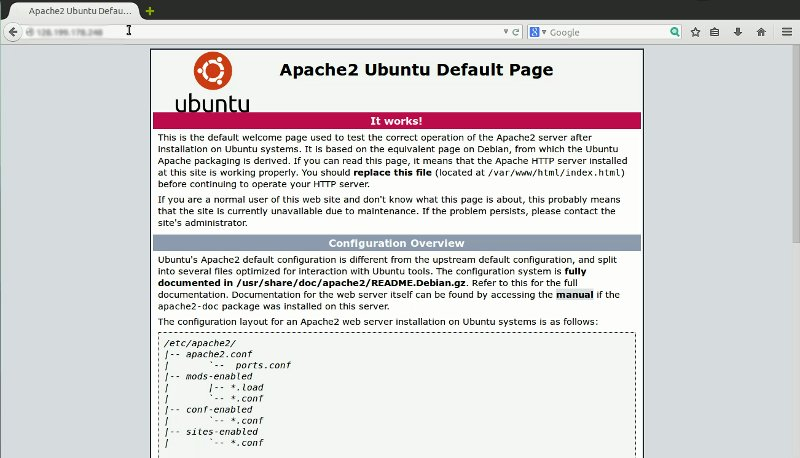 default web page apache2 ubuntu How to Install LAMP in Ubuntu Server 14.04 LTS