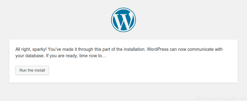 run install wordpress