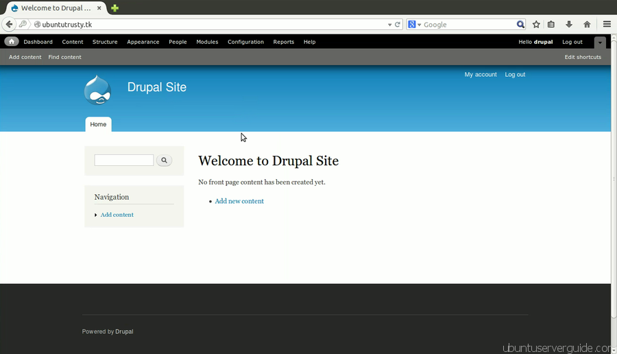Drupal Site How to Install Drupal 7.x with Apache2 + MySQl 5.5 + PHP 5.5 on Ubuntu Server 14.04 LTS