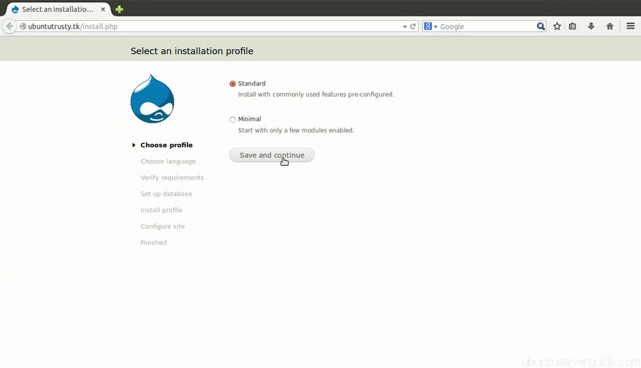 Install Drupal Step 1 How to Install Drupal 7.x with Apache2 + MySQl 5.5 + PHP 5.5 on Ubuntu Server 14.04 LTS